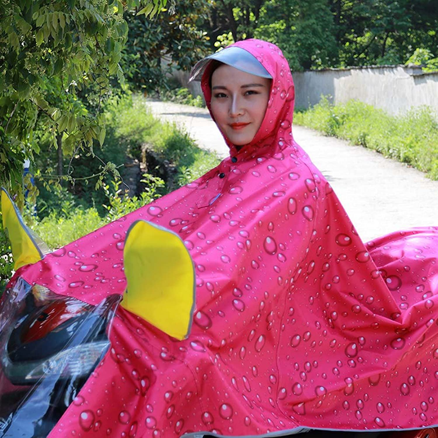 Bicycle Raincoat Electric Motorcycle Single Men And Women Adult Fashion Increased Thickening Battery Car Poncho