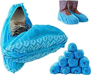 SKYYKS 100pcs couvre-bottes et chaussures jetables chaussons de protection pour pieds ultra-/épais et r/ésistants /à leau recyclables antid/érapants