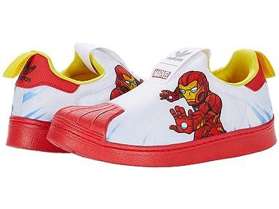 adidas Originals Kids Superstar 360 (Little Kid) (White/Vivid Red/Yellow) Kid