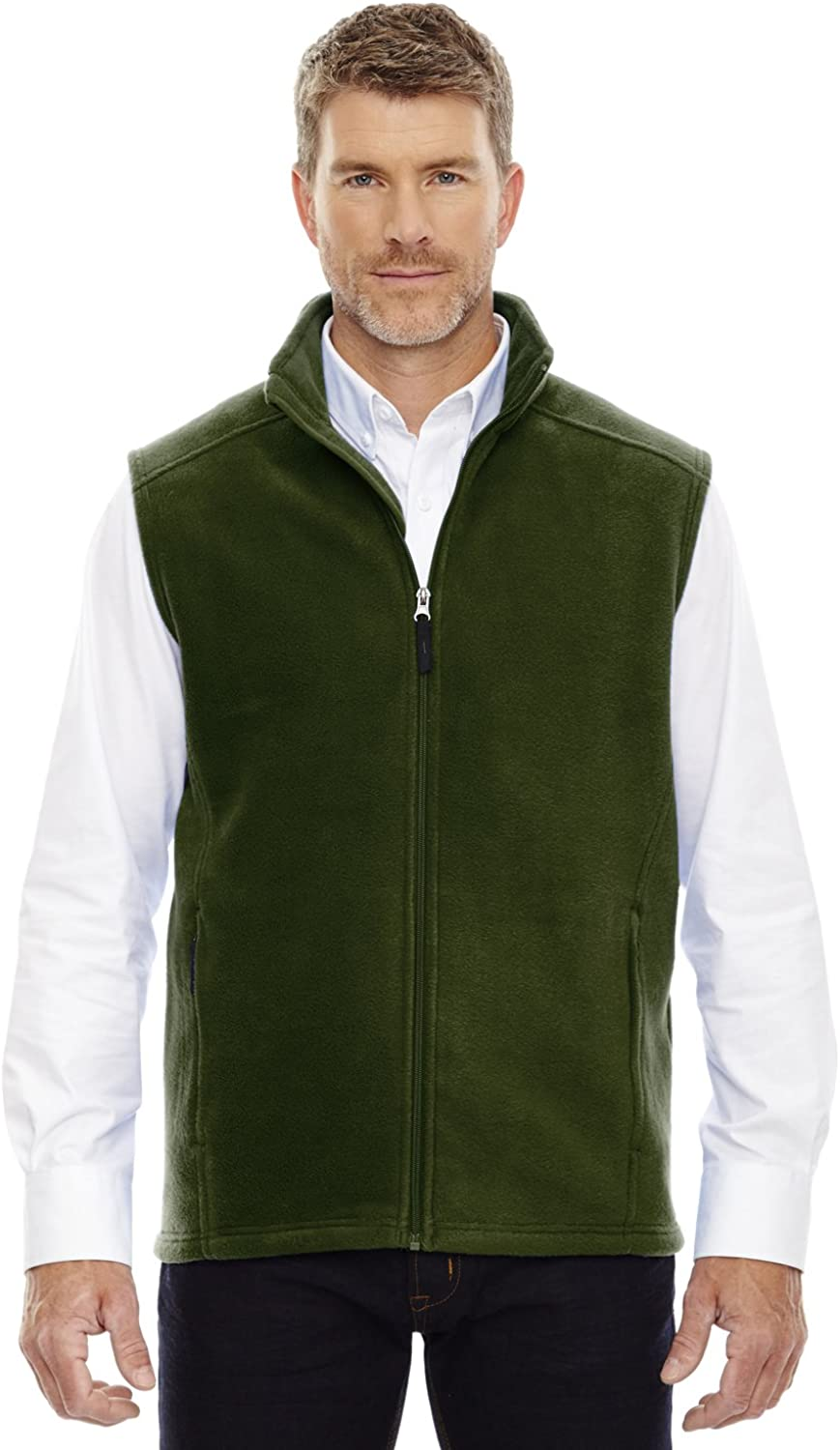 North End Journey Core Big and Tall Mens Fleece Vest (FOREST GREEN 4X)