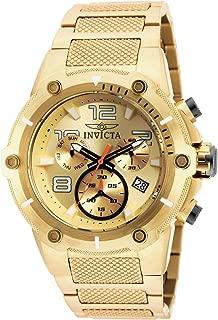 Men's Speedway Quartz Watch with Stainless Steel Strap, Gold, 30 (Model: 19529)