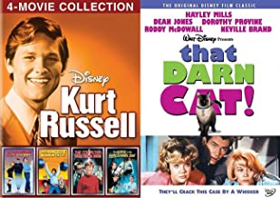 We Remember These Wacky Disney fun Films Kurt Russell Movies Strongest Man / Computer Wore Tennis Shoes / Now You See Him invisible Man / Horse in Gray Flannel Suit + That Darn Cat Haley Mills