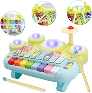 WISHTIME Tischmusik Baby Spielzeug Kinder Schlagzeug, Spielen Klaviertastatur, Xylophon..