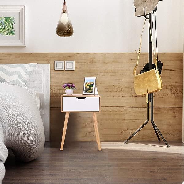 JHFUH Modern Double Drawer Bedside Table Bedside Locker Assemble Storage Cabinet Bedroom Coffee Table B