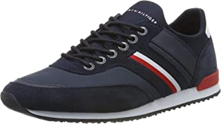 TOMMY HILFIGER Men's Suede Trim Iconic Sock Trainers Black