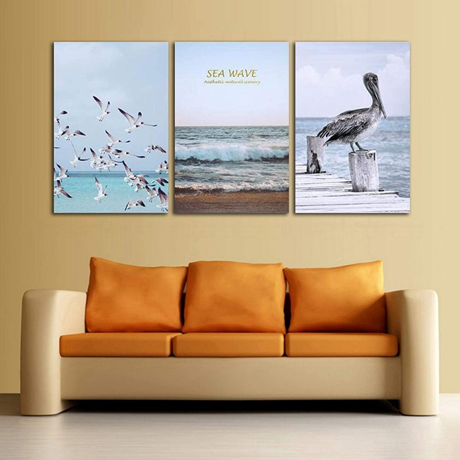 Sea Waves Seabird Nordic High quality Canvas Painting Modular Wall Ar Sales results No. 1 Picture