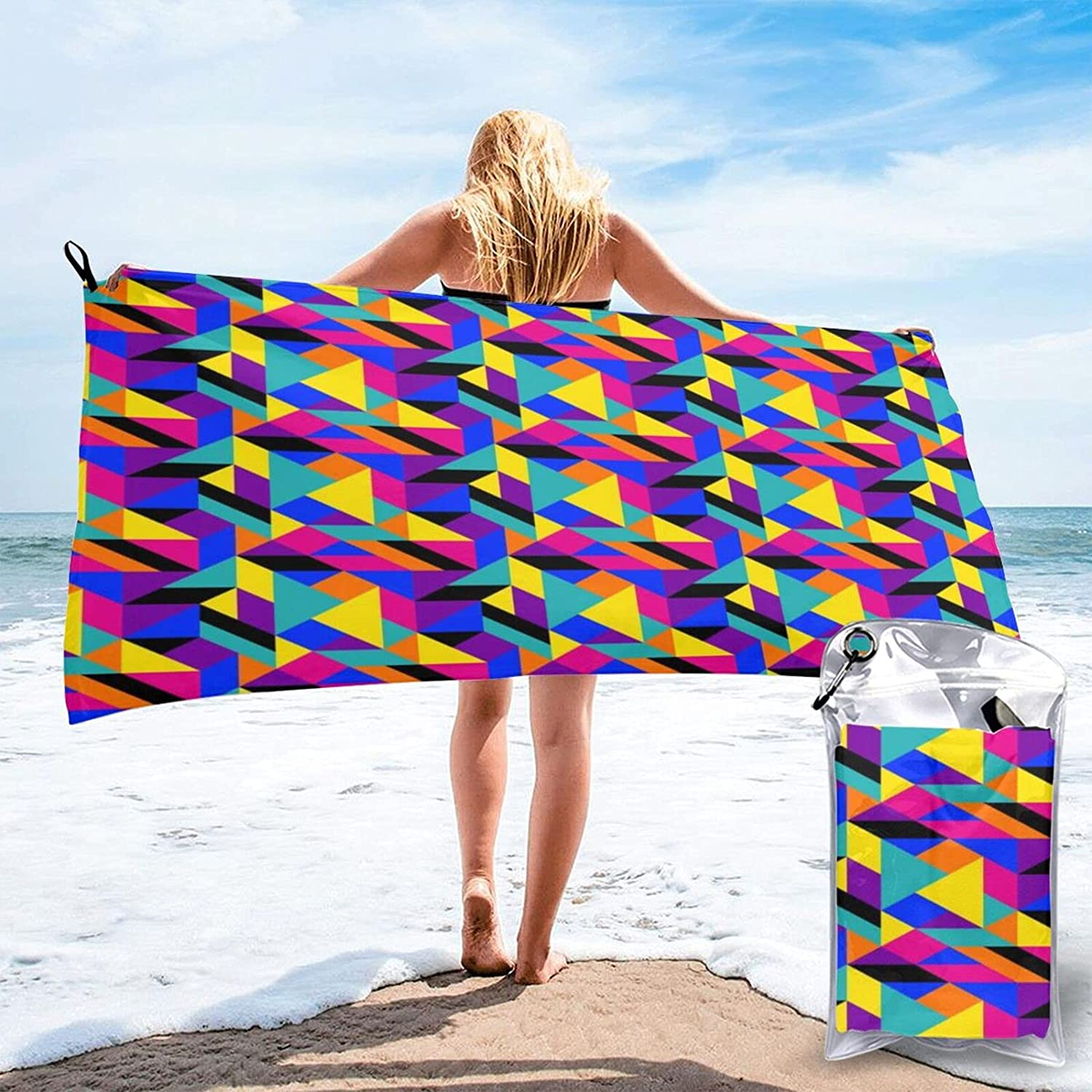 90s Geometric Limited Special Price Microfibre Pool Beach Quick Dry Travel Towels Ligh Popular shop is the lowest price challenge