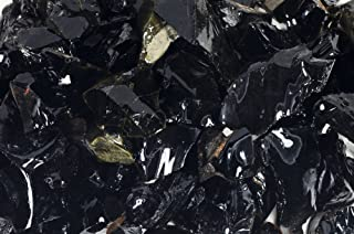 Fantasia Materials: 1 lb of Black Obsidian Rough Stones from Mexico - Raw Natural Volcano Glass Crystals for Cabbing, Cutt...