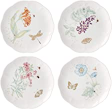 Lenox Butterfly Meadow Gold 4-Piece Accent Plates, 4.15 LB, Multi