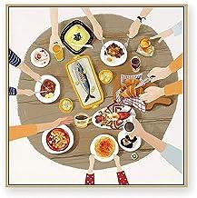 HEZHANG Nowoczesna minimalistyczna dekoracja mural salon tło dekoracja ścienna obraz pokój dziecięcy restauracja dekoracja...