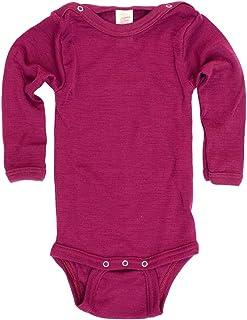 Engel Baby-Body wełniane body z długim rękawem, z zatrzaskami na ramionach - jedwab wełniany