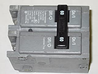 BRH260 EATON CUTLER HAMMER 22,000 IR, 60 AMP, 2 POLE BR SERIES CIRCUIT BREAKER, 22K, PLUG-IN, 60A 2P