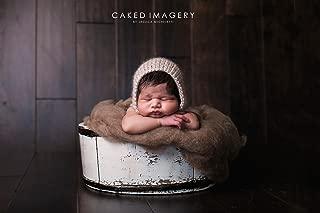 wool fluff newborn photography