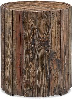 Magnussen T4017-05 Dakota Reclaimed Wood Round End Table, 24