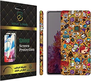 For SAMSUNG Galaxy S20 FE back full skin Doodle 06 soft felling Hd print by whats mob (Not Cover)
