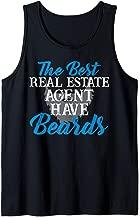 Funny Real Estate Agent Beard Realtor Men Husband Tank Top