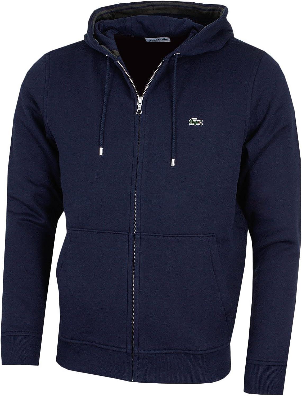 Lacoste Herren Zip-Through Logo Hoodie Navy-blau