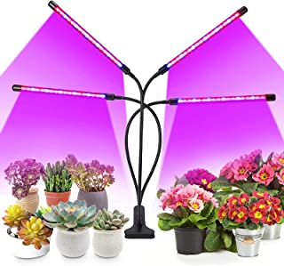 Brizled Plant Grow Lights, 72 LED Plant Lights, Grow Light 3 Switch Modes, 9 Dimmable Level, 4/8/12H Timer, Grow Light for...