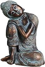 Generic Sleeping Buddha Statue Hand Carved Handcrafted Seat Resting Sleep Home Decor