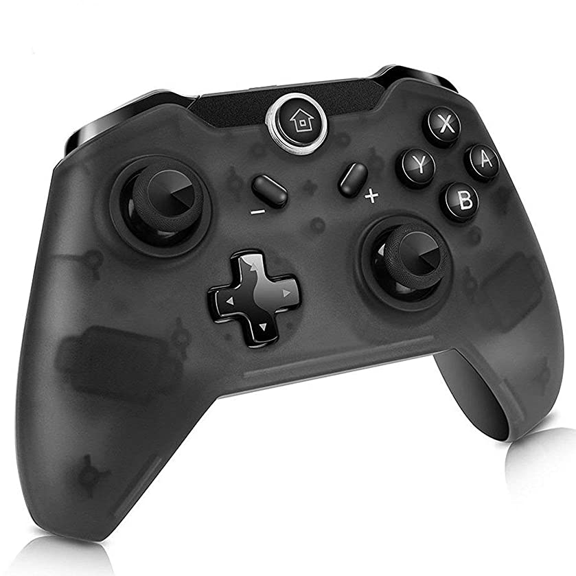 Maegoo Wireless Controller for Nintendo Switch & PC, Bluetooth Switch Game Controller with Built-in Gyro and Gravity Sensor, Remote Gamepad Joypad Joysticks Dual Vibration and Screenshot (Black)