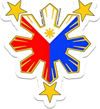 Philippine Flag Sun Car Decal / Stickers