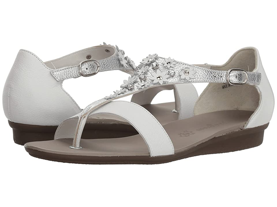 Paul Green Sival Sandal (White Silver Leather) Women