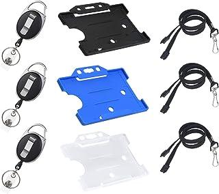 Vicloon 9Pcs Porte-badge avec Yoyo et Cordon Résistant avec Courroie de Cou de Lanière,Protection de Vos Badges Carte de V...