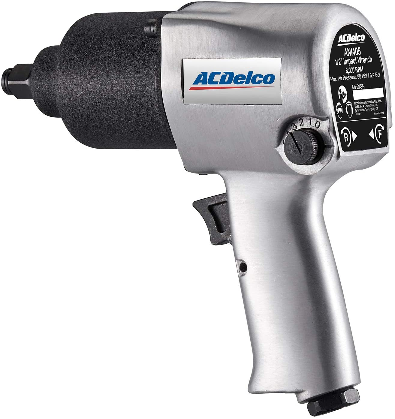 ACDelco ANI405A Heavy Duty Twin Hammer 5-Speed Pneumatic Impact Wrench Tool Kit