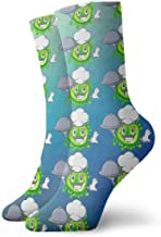 LUOBOGAN Novelty Funny Crazy Crew Sock Chef with Food Cartoon Microbes On The Humans Hand Printed Sport Athletic Winter Warm Socks 30cm Long Personalized Gift Socks