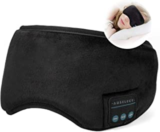 Bluetooth Sleep Headphones, AUSELECT Sleeping Eye Mask Wireless Updated Soft Music Sports Headband Headphones, Perfect Sle...