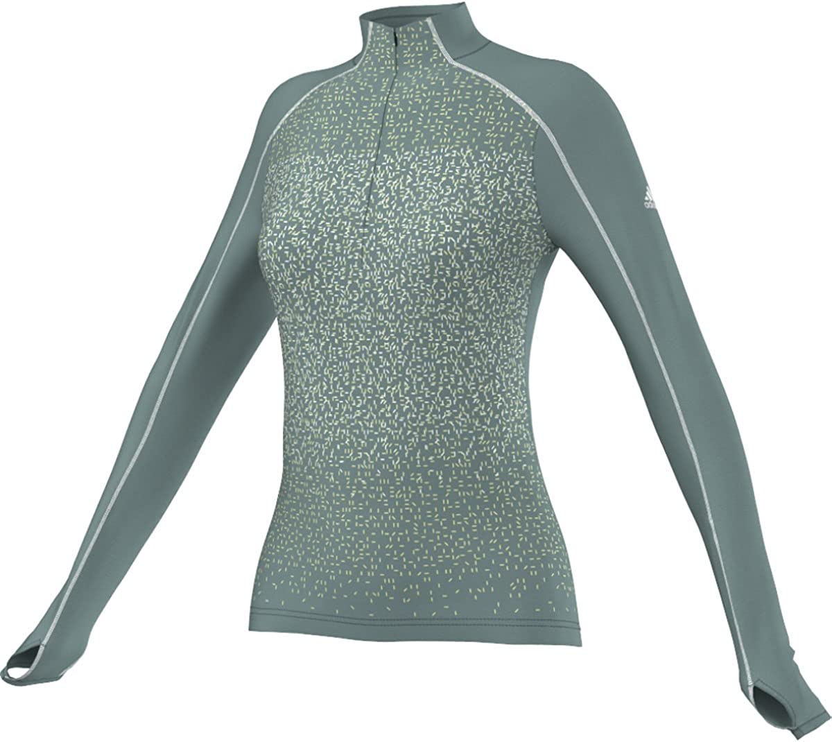 adidas Outdoor Popular brand Women's 1 2 Zip Vapour Steel Long 35% OFF Sleeve T-Shirt
