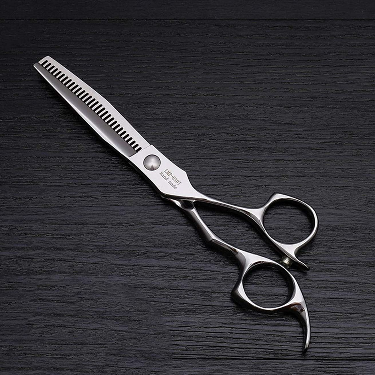試用変数キャンセル6インチのステンレス鋼の理髪はさみ、美容院の毛の切断用具 モデリングツール (色 : Silver)