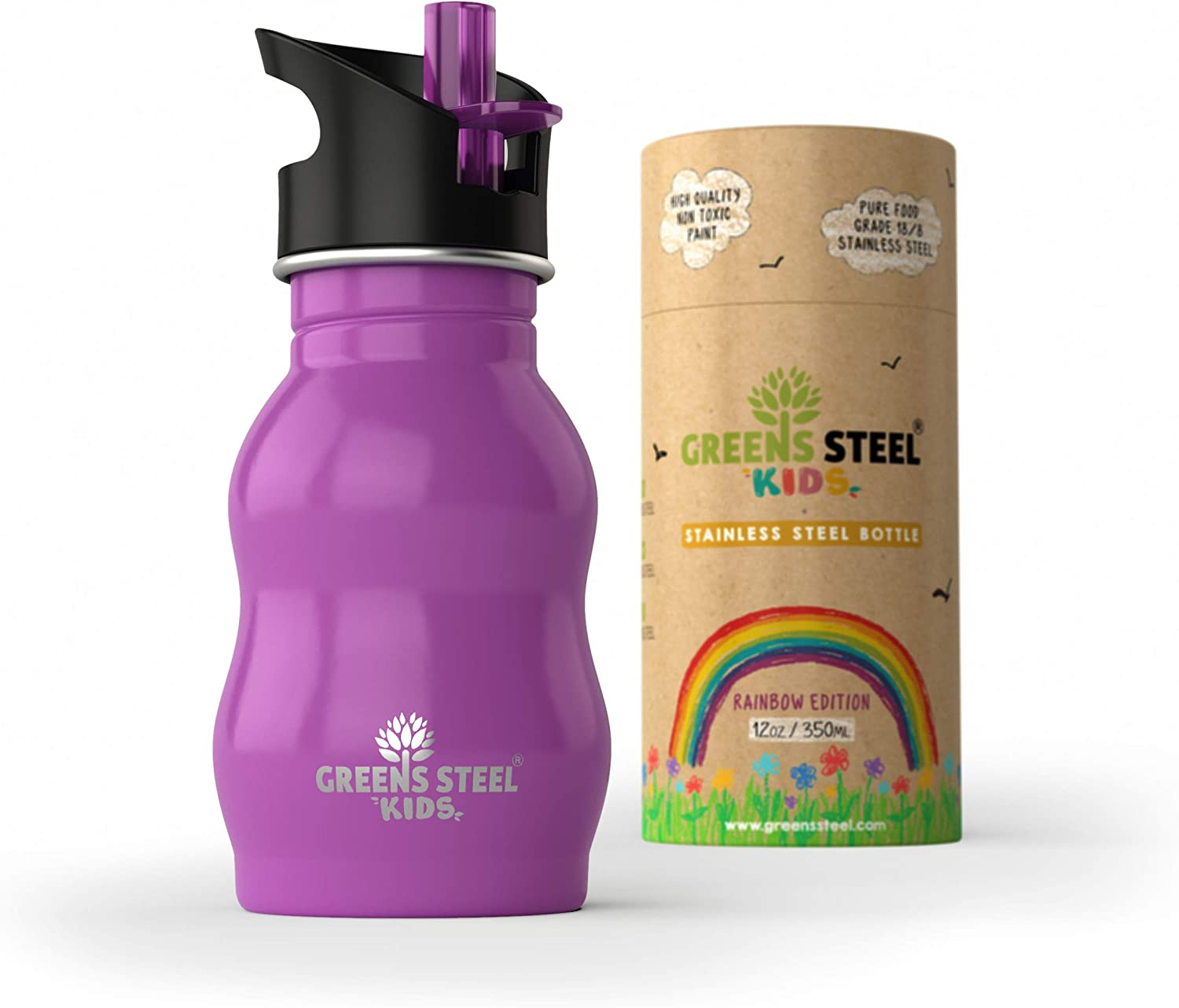 Upgraded Kids Water Bottle Stainless Steel Proof oz 12 Gifts Leak - High quality new