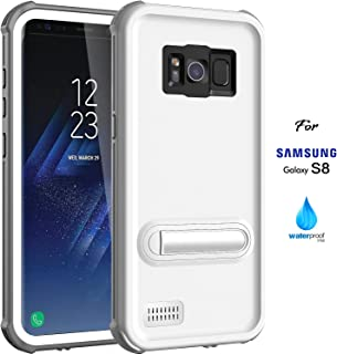 ASAKUKI Galaxy S8 Waterproof Case, IP68 Certified Case, Full Body Protective, Shockproof, Scratch-Proof, Dustproof Case with Built-in Screen Protector for Samsung Galaxy S8 - White