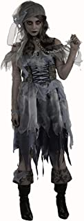 Pirate Wench Zombie Ghost Caribbean Girl Fancy Dress Halloween Adult Costume