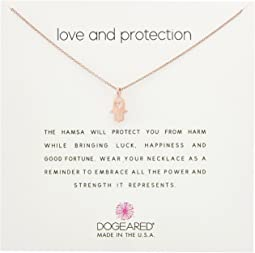 Dogeared Love and Protection, Heart Hamsa Necklace