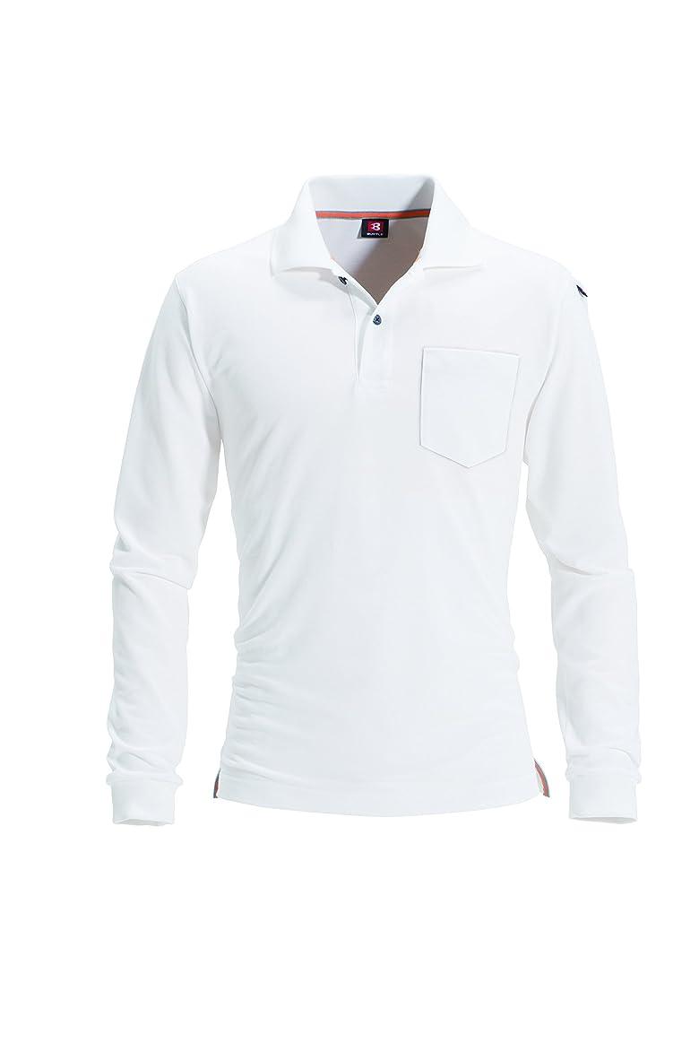 天窓準備した風BURTLE バートル 長袖ポロシャツ (春夏用) 505 29ホワイト L