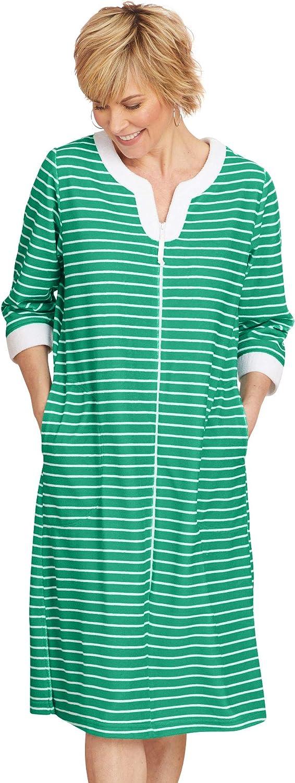 AmeriMark Women's Plush Terry Full Zip Robe