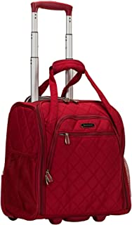 Rockland Wheeled Underseat Carry-on, Red