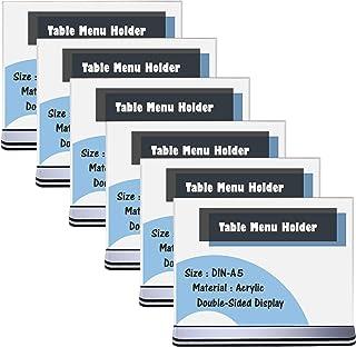 TUKA-i-AKUT 6x A5 Présentoirs de Table, Double Face Porte-Brochures Support de Présentation avec Base Plate, pour Salons R...