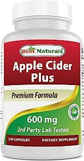 Best Naturals Apple Cider Vinegar Plus 500 Mg Capsules, 120 Count