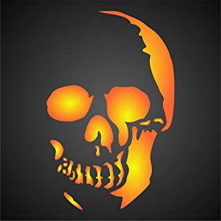 Halloween Skull Stencil (size 4.5
