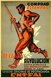Magnet CNT FAI Buy Prints of The Revolution - 1930s Spanish Civil War Magnet Vinyl Magnetic Sheet for Lockers, Cars, Signs, Refrigerator 5""