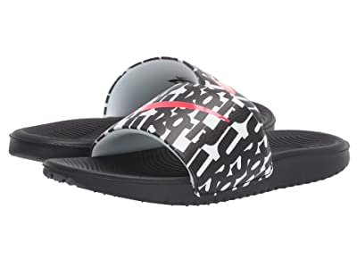 Nike Kids Kawa Slide Print (Little Kid/Big Kid) (Black/Bright Crimson/White) Boys Shoes