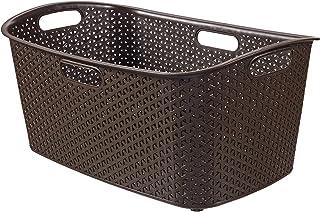 CURVER | Panier à linge 47L - My Style, Chocolat, Laundry Hampers & Baskets, 60x39x27,8 cm