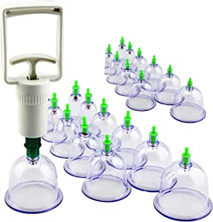 HIJAMA SET OF 24PCS THERAPY (CUPPING)(ISLAMIC) WITH PUMPING HANDLE حجامة اسلامية