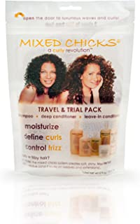 Mixed Chicks Travel & Trial Pack - Shampoo, Deep Conditioner, Leave-in Conditioner, 2 fl. oz. each