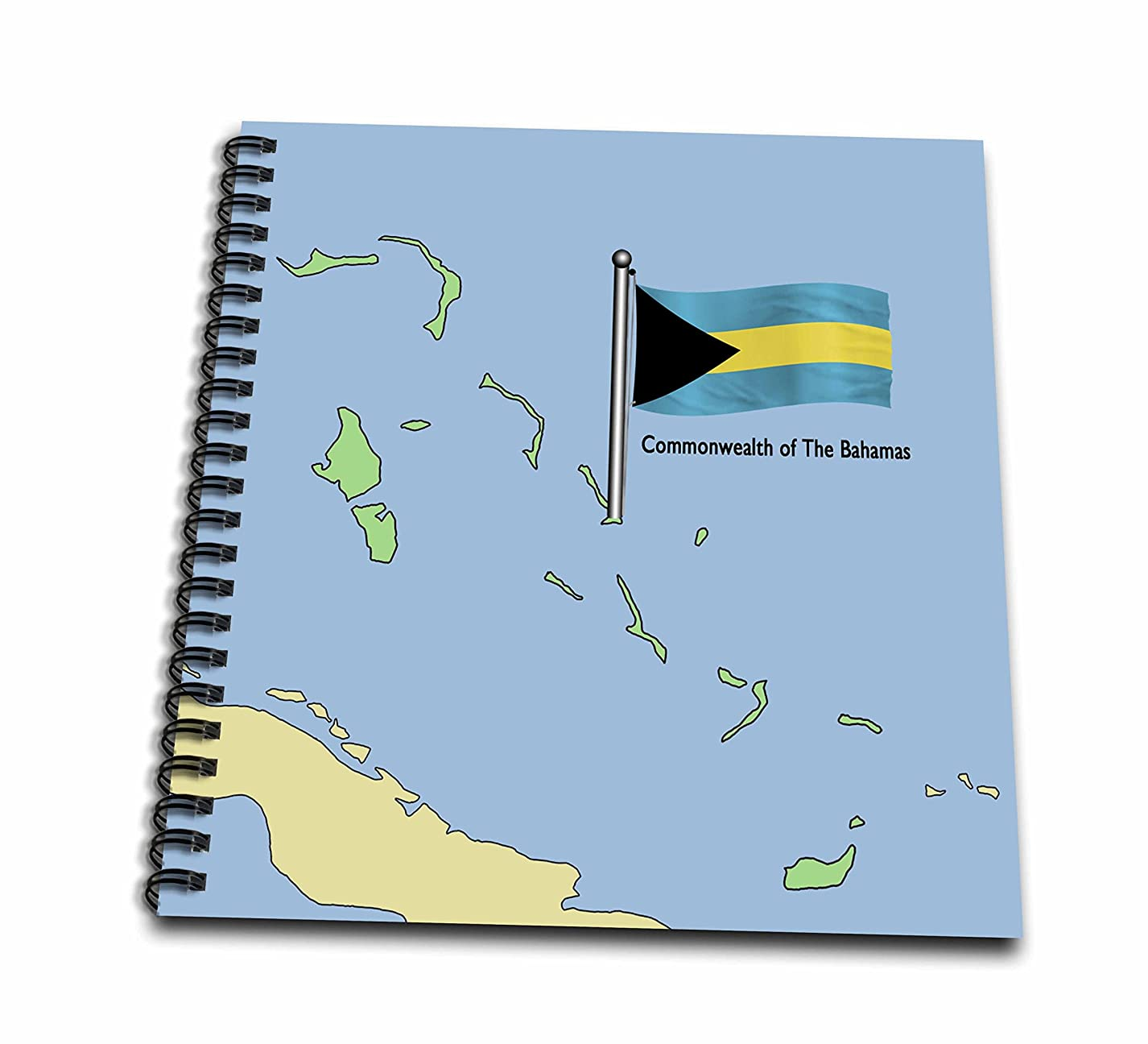 3dRose db_55492_2 The Map and Flag of The Commonwealth of The Bahamas-Memory Book, 12 by 12-Inch cim957094491119