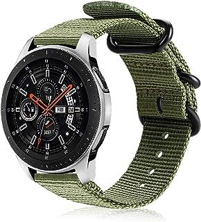 FINTIE Cinturino Compatibile con Galaxy Watch 46mm/Gear S3 Classic/Frontier/Huawei Watch GT Sport, 22 mm Morbido Tessuto d...