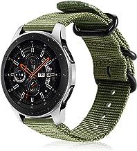 Fintie Correa Compatible con Samsung Galaxy Watch 46mm/Gear S3 Classic/Gear S3 Frontier/Huawei Watch GT - Pulsera de Repuesto de Nylon Tejido Banda Ajustable con Hebilla de Metal, Verde Oliva